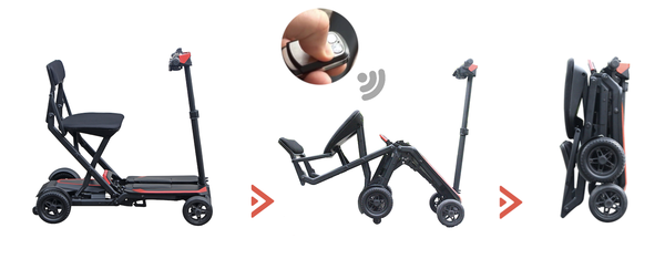 Scooter 4 roues, PLIAGE AUTOMATIQUE
